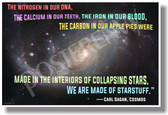...We Are Made Of Starstuff - Carl Sagan, Cosmos - NEW Science Classroom Poster (ms301)