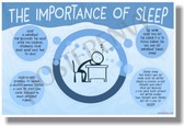 The Importance Of Sleep - NEW Health and Safety POSTER (he072)