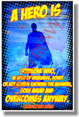 A Hero Is... #2 - Christopher Reeve - NEW Motivational Poster (cm1154) PosterEnvy Poster