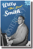 "Willie ""The Lion"" Smith (Yellow Text) - Famous Jazz Artists - NEW Music Poster (fp430) PosterEnvy Poster"