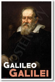 Galileo Galilei NEW Classroom Famous Scientist Poster (fp431) PosterEnvy Science history