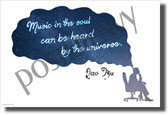 Music in the Soul Can Be Heard by the Universe Lao Tzu universe NEW Music Classroom Poster (mu089) posterenvy thought bubble stars