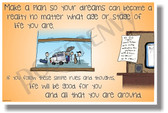 Make A Plan So Your Dreams Can Become A Reality band NEW Classroom Motivational Poster (cm1197) PosterEnvy goals success win career future life students teachers schools