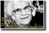 Harper Lee - It's a sin to Kill a Mockingbird - NEW Famous Person Poster
