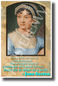 """A Single Man in Possession of a Good Fortune..."" - Jane Austen - NEW Famous Person Poster (fp463) PosterEnvy Poster"