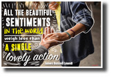 All the Beautiful Sentiments in the World - NEW Classroom Motivational Poster cm1255 PosterEnvy.com