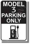 Tesla Model 3 Parking (Black) - NEW Electric Vehicle Humor Elon Musk POSTER (hu424)