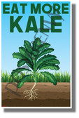 Eat More Kale - NEW Healthy Snacks and Nutrition Poster (he077)