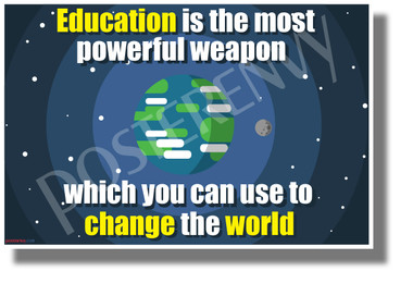 Education is the Most Powerful Weapon - NEW Motivational Classroom POSTER (cm1280)