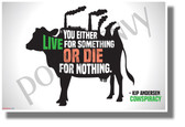 You Either Live for Something or Die for Nothing - NEW Health and Nutrition Motivational Poster