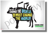 You Can Change the World You Must Change the World - NEW Health and Nutrition Motivational Poster