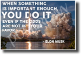 When Something is Important - Falcon Heavy - Elon Musk - NEW Classroom Motivational Poster (cm1290)