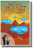 Venture to the Red Planet - NEW Humor Novelty Vintage Style POSTER (hu452)