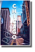Chicago Illinois Street View - NEW U.S State Travel Poster