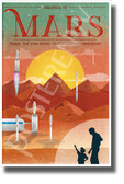 Vacation to Mars - NEW Humor Novelty Vintage Style POSTER