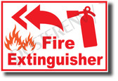 Fire Extinguisher Left - NEW Laboratory or Classroom Fire Safety POSTER