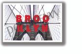 Brooklyn Bridge Horizontal Text - NEW U.S State City Travel Poster (tr609)