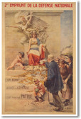 2nd Emprunt de la Defense Nationale - French Vintage Reprint Poster