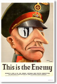 This is the Enemy - Vintage WW2 Reproduction Poster