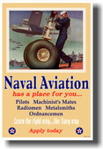 Naval Aviation has a place for you - NEW Vintage WW2 Reprint Poster