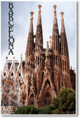 Barcelona La Familia Sagrada Church architecture europe world heritage site NEW World Travel Poster (tr443)