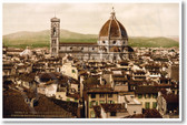 Florence Italy - View of the Duomo 1897 - NEW Travel Poster