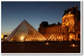 Louvre Museum at Night - Paris, France
