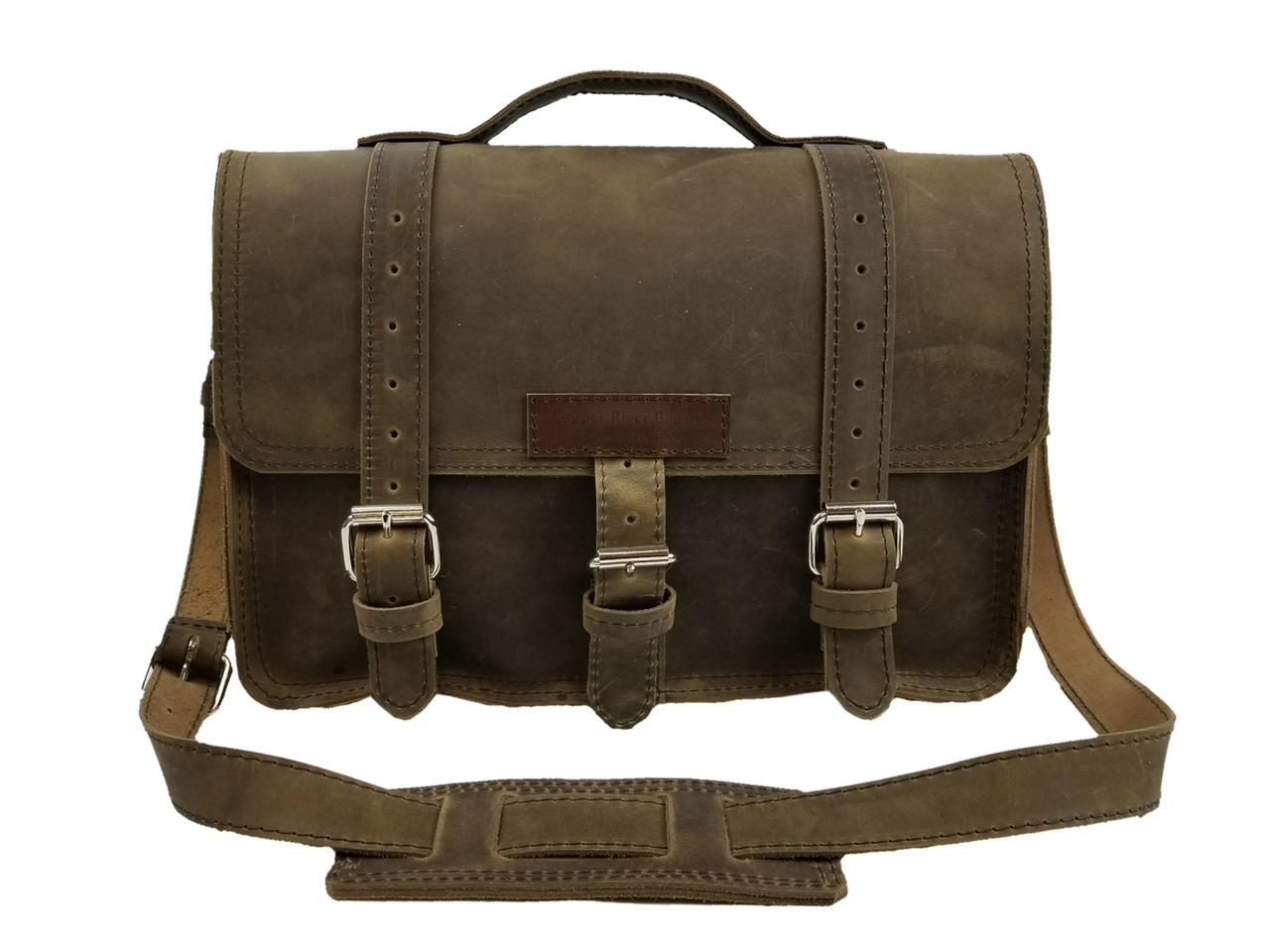 rugged leather briefcase | copper river bag so