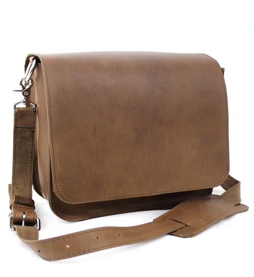 """Large 15"""" Sierra Mission Laptop Bag Made in the U.S.A. - Brown - 15-MIS-BR-LAP"""