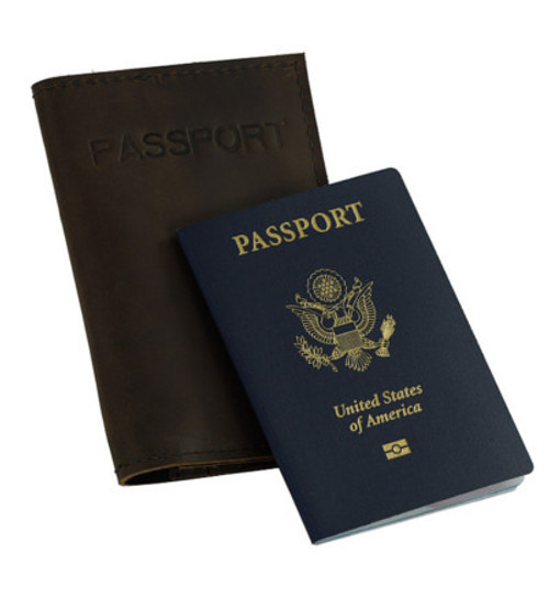 Passport Wallet - Brown Made in the U.S.A.