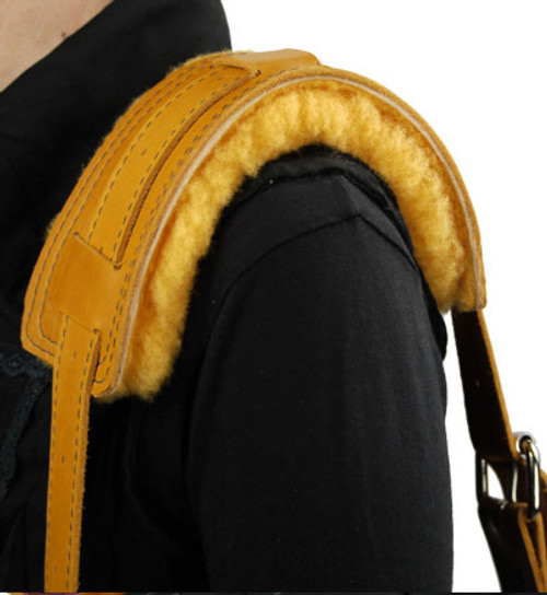 Sheep Wool Shoulder Pad (Shown with Leather Shoulder Strap, not included)