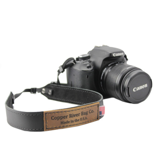 Leather Camera Strap - Black Made in the U.S.A. - CAM-STRP-BLK