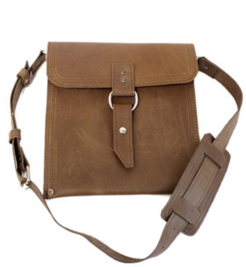 "Slim 10"" Richmond Traveler iPad (Tablet) Bag in Brown Leather"