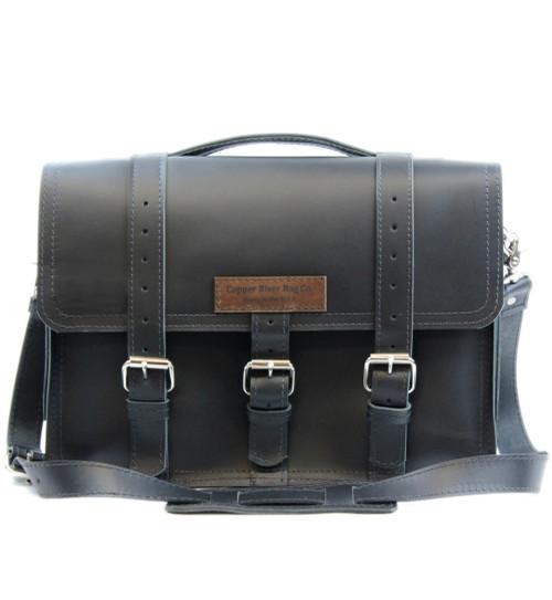 "15"" Large Belmar BuckHorn Laptop Bag in Black Napa Excel Leather"