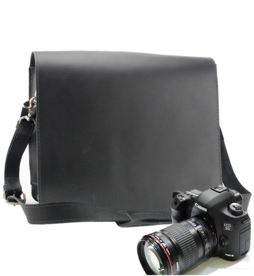 "10"" Small Mission Napa Camera Bag in Black Napa Excel Leather"
