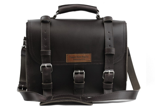 15 inch Lincoln Classic Leather Briefcase in Black Excel - Made in the U.S.A.