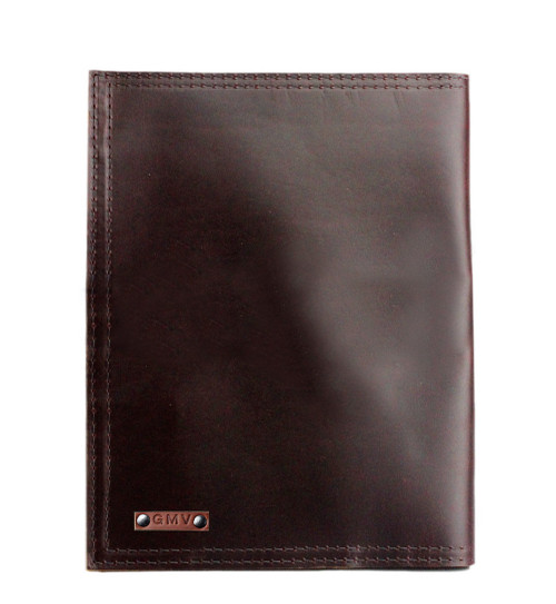 """Left handed  Classic 8.5""""x11"""" Padfolio in Coffee Brown Excel Leather"""