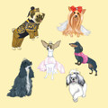 America's Top Dog Model Twelfth Anniversary Coasters