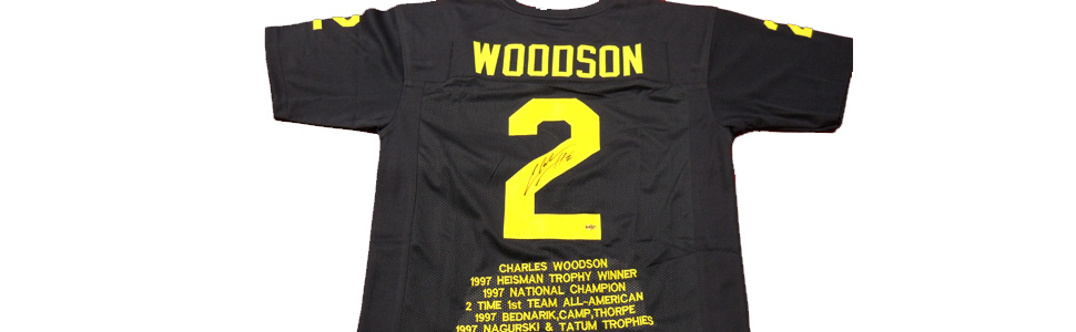 Charles Woodson Signed Jersey