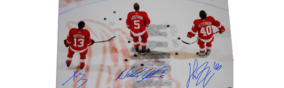 Nicklas Lidstrom Pavel Datsyuk Henrik Zetterberg Red Wings