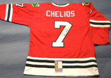 CHRIS CHELIOS AUTOGRAPHED CHICAGO BLACKHAWKS JERSEY JSA