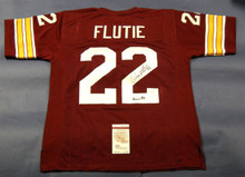 DOUG FLUTIE AUTOGRAPHED BOSTON COLLEGE JERSEY JSA HEISMAN 84 INSCRIPTION BC