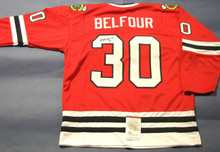 ED BELFOUR AUTOGRAPHED CHICAGO BLACKHAWKS JERSEY JSA EDDIE THE EAGLE