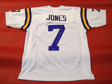 BERT JONES AUTOGRAPHED LSU TIGERS JERSEY RUSTON RIFLE INSC LOUISIANA STATE AASH