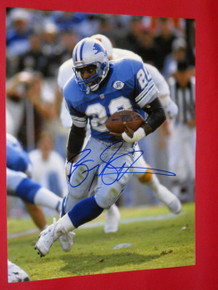 BARRY SANDERS DETROIT LIONS AUTOGRAPHED 16X20 PHOTO AASH BUCS