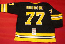 RAY BOURQUE AUTOGRAPHED BOSTON BRUINS JERSEY JSA RAYMOND