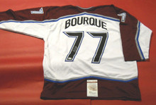 RAY BOURQUE AUTOGRAPHED COLORADO AVALANCHE JERSEY JSA RAYMOND