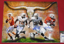 EARL CAMPBELL RICKY WILLIAMS VINCE COLT SIGNED TEXAS LONGHORNS 16X20 PHOTO AASH