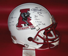 MARK INGRAM EDDIE LACY CUSTOM ALABAMA CRIMSON TIDE FS HELMET JSA 6 INSCRIPTIONS