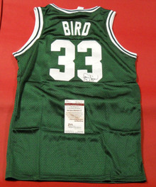 LARRY BIRD AUTOGRAPHED BOSTON CELTICS JERSEY JSA